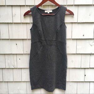 Ann Taylor LOFT Sleeveless Solid Gray Sheath Dress